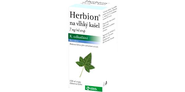 Herbion na vl.kaš.7mg/ml por.sir.1x150ml/1050mg+lž