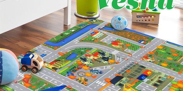 Dětský koberec se silnicí – 3 typy
