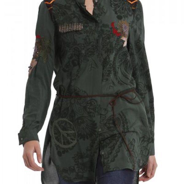 Neobyčejná dámská košile Desigual 38C2204_4094_aw zelená