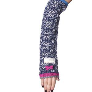 Pletené návleky na ruce - mid indigo 540