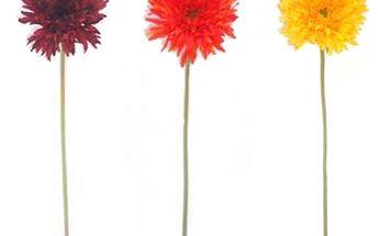 Umělé květiny - Gerbery, zcela autentický vzhled