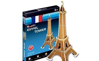 3d puzzle - eifelova věž!! Úžasná stavebnice!!