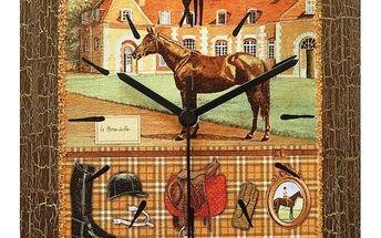 Nástěnné hodiny Dostihový kůň