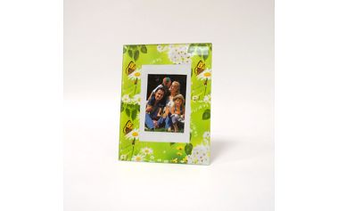 Zelený skleněný fotorámeček - zelené sklo