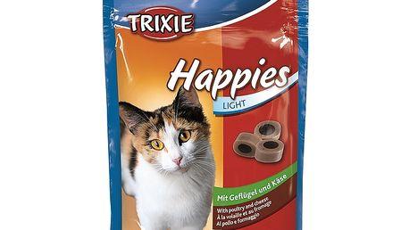 Doplňkové krmivo pro kočky TRIXIE Happies light kuřecí kolečka se sýrem, 50g