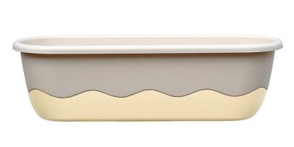 Samozavlažovací truhlík v moderním designu 60 cm čokoládová + bronzová