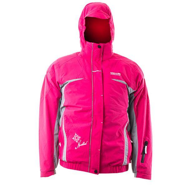Dívčí růžová bunda se skrytou kapucí Xenotex Snowrider