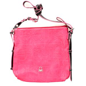 Dámská růžová taška United Colors of Benetton s černým popruhem