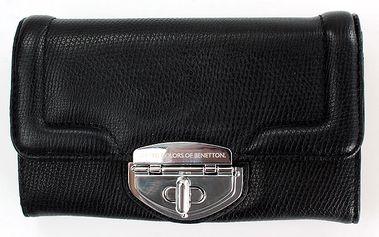 Dámská černá peněženka United Colors of Benetton se stříbrným zámkem