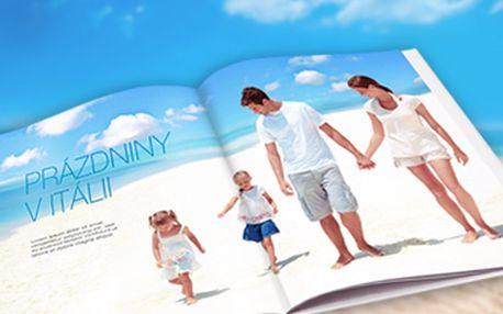 45% sleva na extra velkou fotoknihu na výšku, 32 stran. Vytvořte si fotoknihu z dovolené.