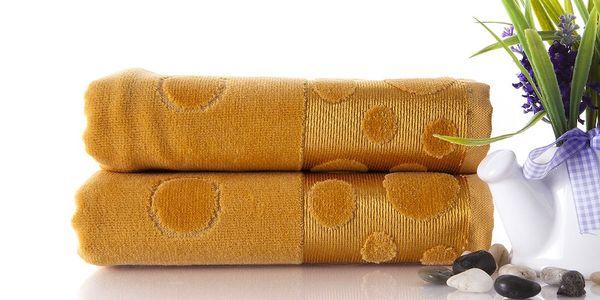 Set dvou ručníků Tropical Mustard Color, 50x90 cm