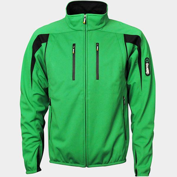 Pánská softshellová bunda zelená