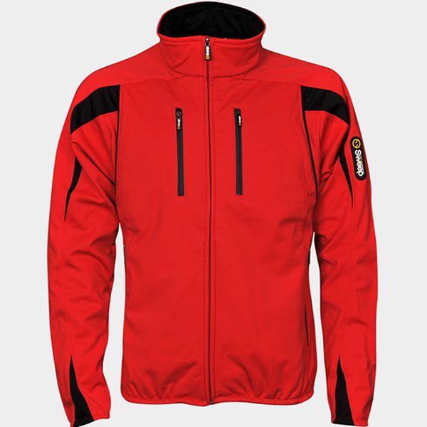 Pánská softshellová bunda červená