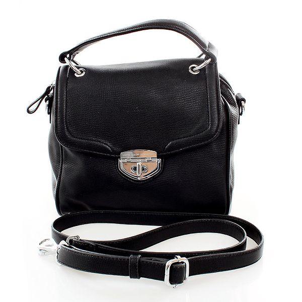 Dámská malá černá kabelka se zámečkem United Colors of Benetton