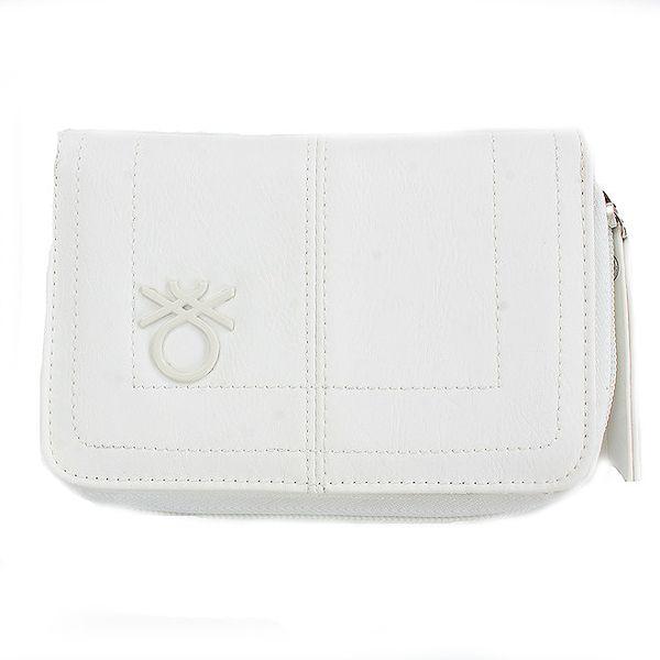 Dámská bílá peněženka United Colors of Benetton