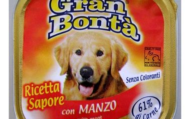 Paštika Gran Bonta s hovězím masem pro psy, 150g