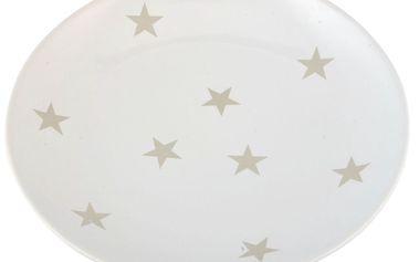 Talíř Stars white