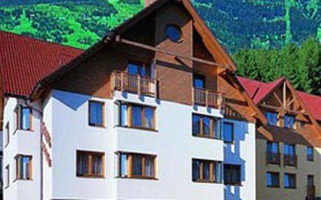 4denní pobyt pro 2 až 4 osoby v Krkonoších s ubytováním ve stylových ***apartmánech HELAS v malebném údolí Rokytnice nad Jizerou