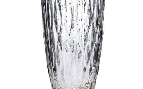 Skleněná váza z vroubkovaného skla 15 cm