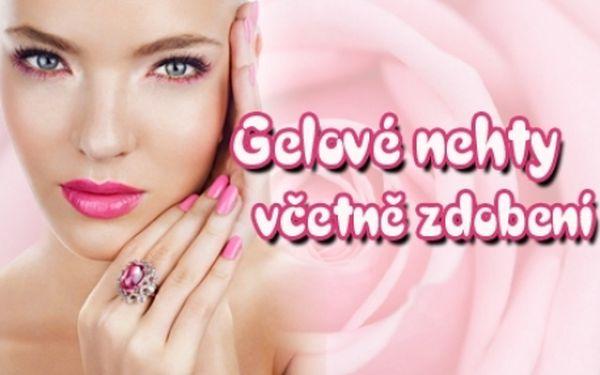 Gelové nehty včetně zdobení podle výběru a parafínového zábalu!!! Až 4 týdny s nádhernými nehty z pink lady salonu na p-4!!!