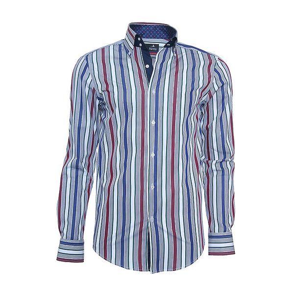 Pánská košile Pontto se svislými barevnými pruhy