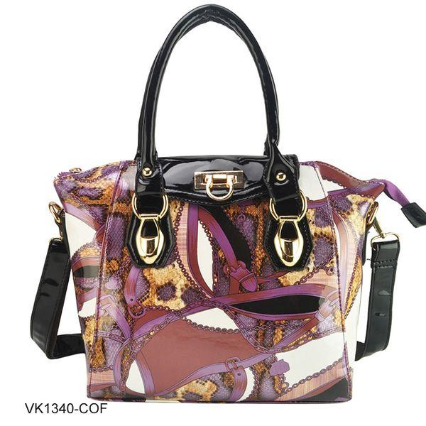 Dámská kabelka Valeria fialovo-černá