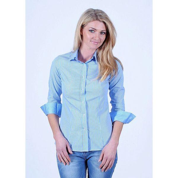 Dámská modro-bílá pruhovaná košile Pontto