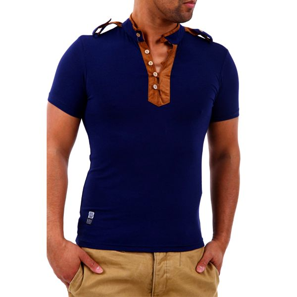 Pánské triko Carisma modro-hnědé
