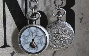 Kapesní hodinky Flowers antik