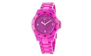 Purpurové hodinky s motivem srdíčka Senwatch