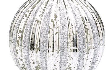 Svíčka Ball silver - 15 cm