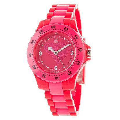 Malinově červené hodinky s motivem srdíčka Senwatch
