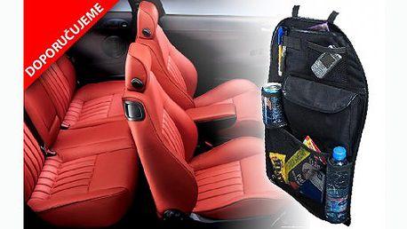 Praktický kapsář do auta na zadní část sedadla s 54% slevou! Hodí se do všech typů aut a nejenom, že budete mít vše pěkně uklizené, kapsář chrání i sedadlo před okopáním od vašich ratolestí!