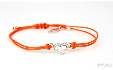 Náramek Heart silver/orange