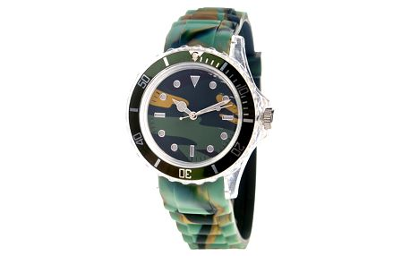 Zelené maskáčové hodinky Senwatch