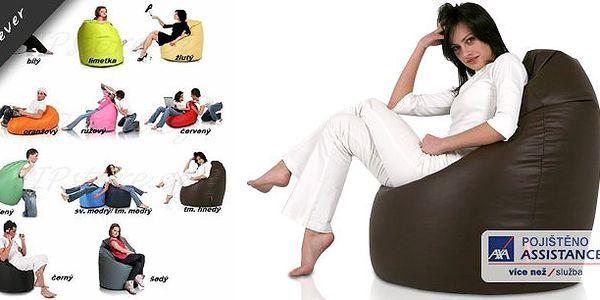 To musíte mít! Luxusní sedací vak z eko kůže, která je velmi příjemná na dotek, mimořádně odolná a hypoalergenní! Je velmi stabilní, komfortní a skvěle se hodí k práci i učení.