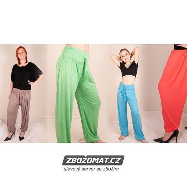 Italské dámské kalhoty harémového střihu - ideální na léto!