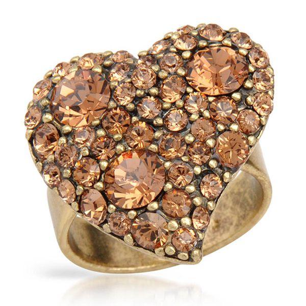 Prsten srdce – oranžový