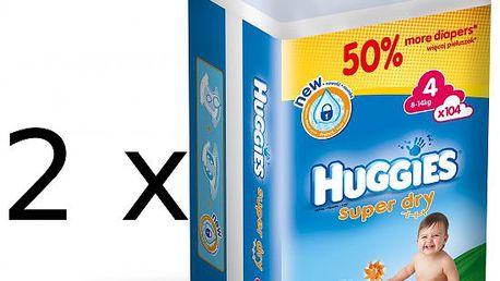 Prémiové plenky Huggies Super Dry 4 Giga double box - 208ks
