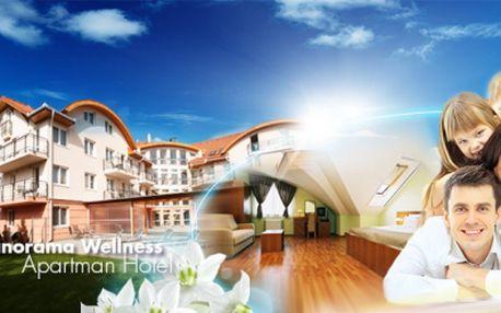Relaxační 3 nebo 4 denní pobyt v maďarsku pro celou rodinu včetně polopenze, pizzy, volného vstupu do wellness a fitness ve 4* panoráma wellness apartman hotelu již od pouhých 3770 kč! Relax a pohoda se slevou 50%!