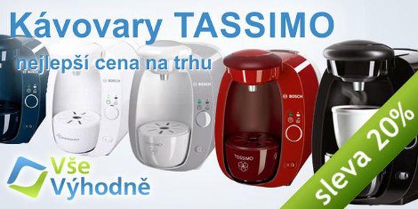 20% sleva na oblíbené kávovary Bosch Tassimo - pouze do vyprodání zásob!