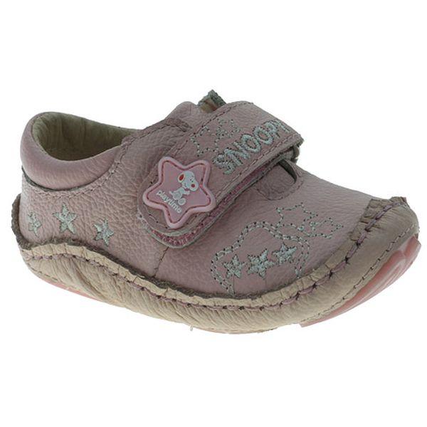 Růžové boty Snoopy