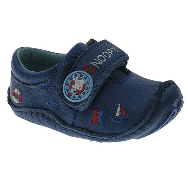 Modré boty Snoopy