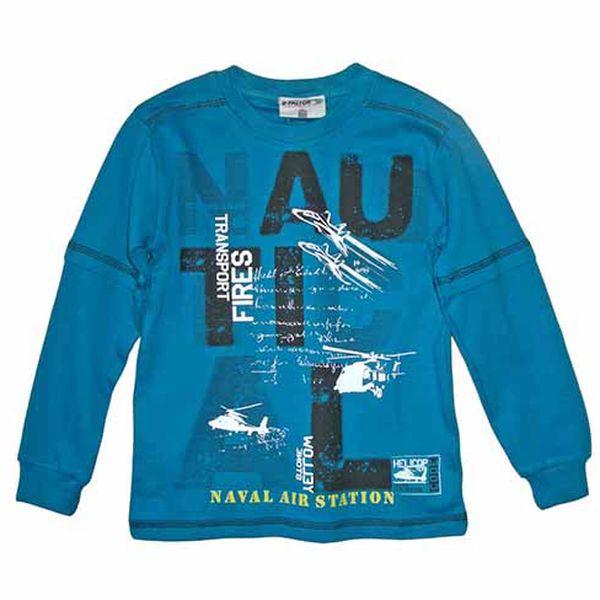 Tmavě modré tričko s dlouhým rukávem