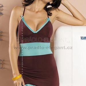 Dámská košilka Gossip chemise v intenzivním odstínu mocca a svěží tyrkysové barvě