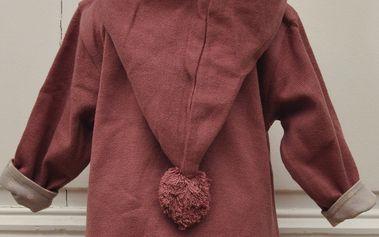 Červená mikinka s kapucí z BIO bavlny