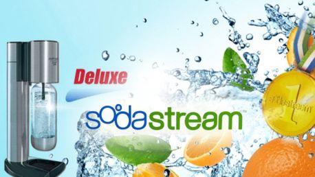 Výrobník sody sodastream wassermaxx deluxe mega pack jen za 1499 kč včetně dopravy! Balení obsahuje: 1x výrobník sody, 2x láhev na sodu (s kovovým a plastovým dnem), 1x bombička co2 a 2x velký sirup! Sleva 57%!