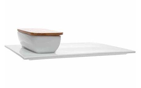 Set talíře a misky v podobě designově zajímavého nádobí.