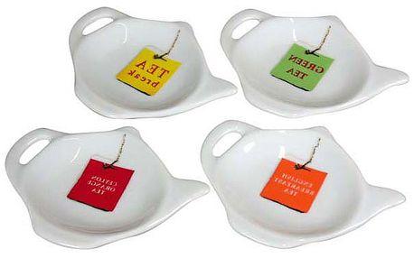 Talířky na čajové pytlíky 4 ks