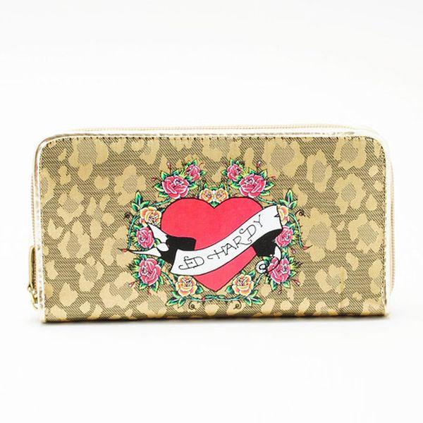 Zlatá dámská peněženka 2